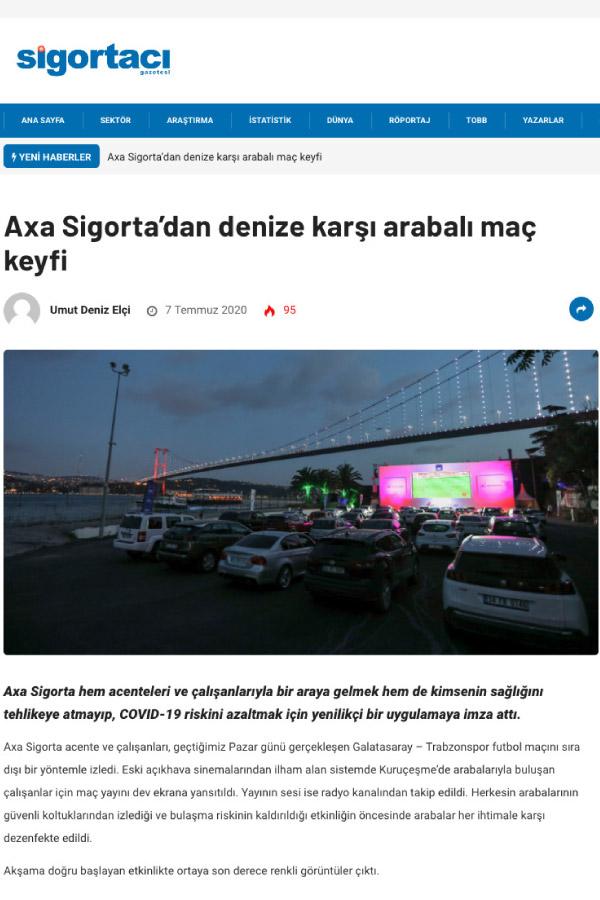 Axa Sigorta'dan denize karşı arabalı maç keyfi